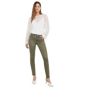 🌻 Express Olive Green Mid Rise Jeggings